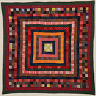 Concentric Frames Quilt: Circa 1880; Pa.