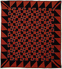 Mennonite Hearts and Gizzards Quilt: Ca. 1880; Pa.