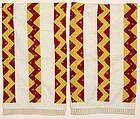 Pair of Streak of Lightning Pillow Cases: Ca. 1830; Pa.