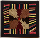 Windmill Blades Log Cabin Doll Quilt: Ca. 1880; Pa.