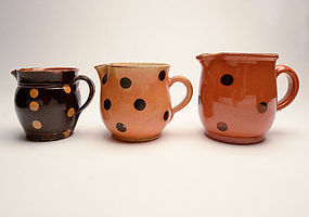 French Jaspe Pitchers: Circa 1900