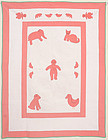 Gingerbread Man Quilt with Animals: Circa 1920; Pennsylvania