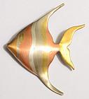 Los Castillo Mixed Metals Fish Pin: Circa 1950