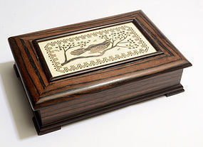 Emilia Castillo Wood and Silver Box