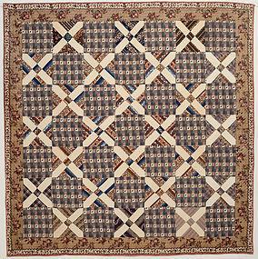 Old Italian Block Quilt: Circa 1860