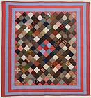 One Patch charm Quilt: Circa 1880; Pennsylvania