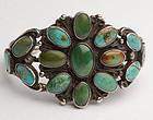 Native American Turquoise Bracelet: Circa 1950