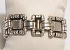 William Spratling Ornamented Squares Silver Bracelet