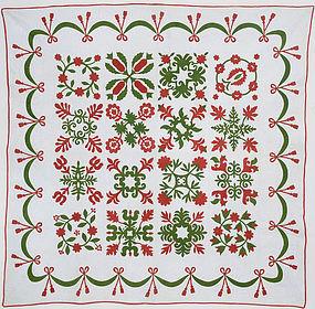 Floral Album Quilt: Circa 1860