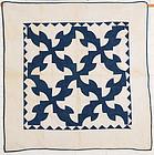Drunkard's Patch Crib Quilt: Circa 1880; Pennsylvania