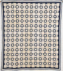 Elongated Touching Stars Quilt: Circa 1880; Pennsylvania