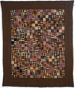 Plaid One Patch Quilt: Circa 1920; Pennsylvania