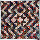Streak of Lightning Quilt with Star Center: Ca. 1880; Pa.