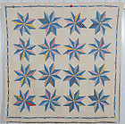 North Star Quilt: Circa 1930; Maryland