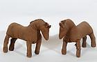 Homemade Lancaster County Amish Toy Horses: Circa 1920
