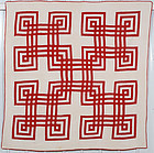 Carpenter's Square Quilt: Circa 1880