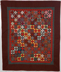 Economy Patch Quilt: Circa 1880's; Pennsylvania