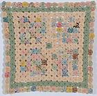 Yo Yo Doll Quilt: Circa 1930