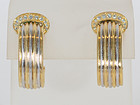Cartier Double C Earrings: Circa 1990