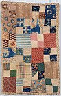 Four Patch Doll Quilt: Circa 1850; Pennsylvania