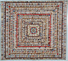 Highly Pieced Center Medallion Quilt: Circa 1870's; Pennsylvania