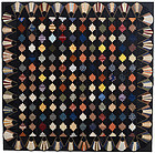 Courthouse Steps Log Cabin Quilt: Circa 1880; Pennsylvania