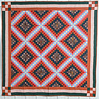 Philadelphia Pavement/ Irish Chain Quilt: Circa 1880; Pa.