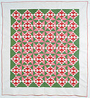 Fox and Geese with Pinwheels Quilt: Circa 1880; Pennsylvania