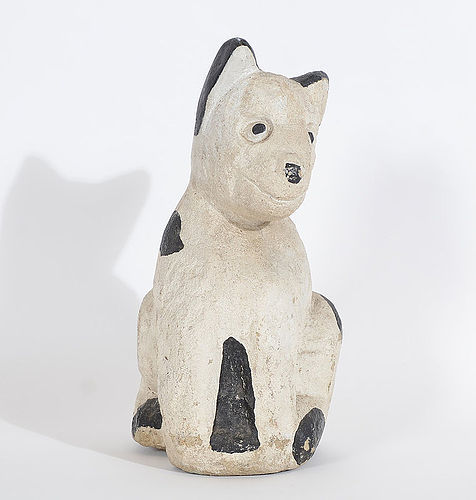 Concrete Garden Ornament of a Dog: Circa 1930