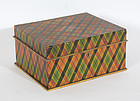 Tartan Plaid Painted Box in Original Paint: Circa 1870's