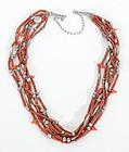 Jasper and Silver Native American Necklace