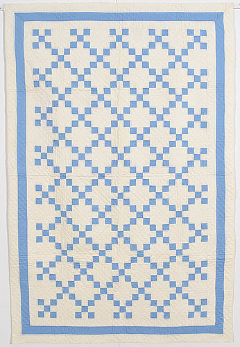 Nine Patch Crib Quilt: Circa 1920; Pennsylvania