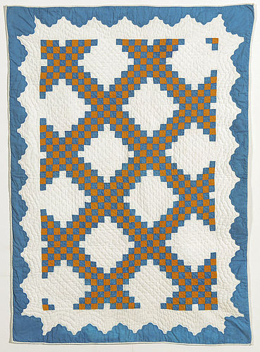 Irish Chain Crib Quilt: Circa 1870; New York