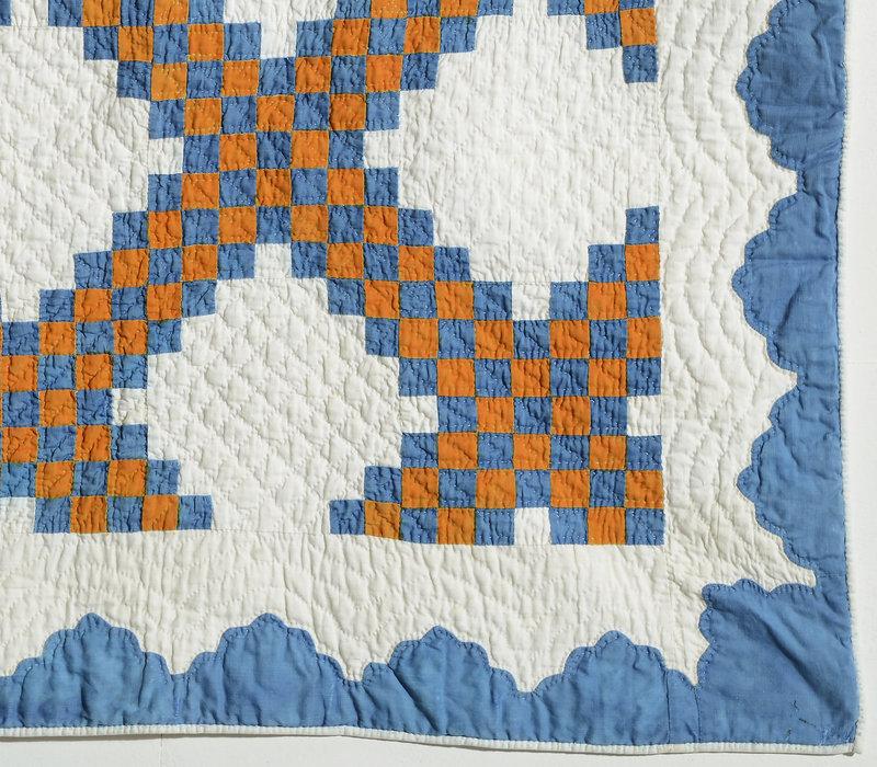 Irish Chain Crib Quilt: Circa 1870; New York