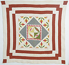 Center medallion Quilt: Circa 1890; Pennsylvania