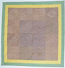 Embroidered Eye Dazzler Quilt: Circa 1920; Pennsylvania