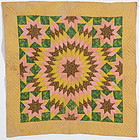 Star of Bethlehem Crib Quilt: Circa 1870; Pennsylvania