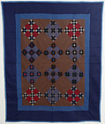 Midwest Amish Double Nine Patch Quilt: Circa 1920