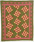 Pinwheels Crib Quilt: Circa 1880; Pennsylvania