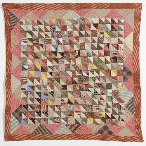 Thousand Pyramids Crib Quilt: Circa 1880; Pennsylvania