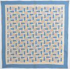 Interlocking Squares Quilt: Circa 1920; Pennsylvania