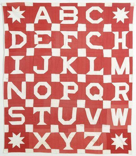 Alphabet Quilt: Circa 1890; Pennsylvania