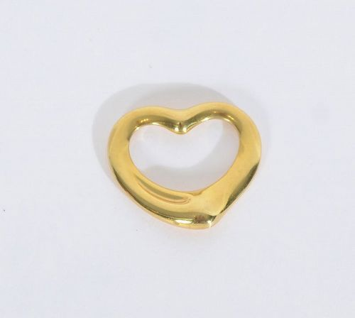 Elsa Peretti for Tiffany Gold Heart Pendant