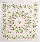 Floral Medallion Wreath Quilt: Circa 1860; Vermont