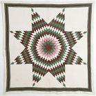 Lone Star Quilt: Circa 1880; Pennsylvania