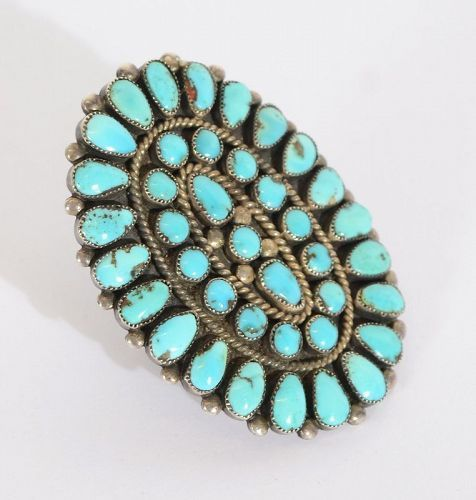 Huge Native American Turquoise Ring: Circa 1950