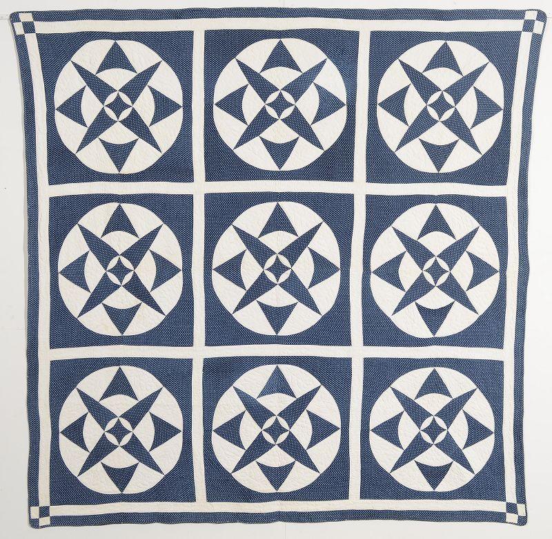 Compass Star Quilt: Circa 1880