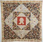 Postage Stamp Quilt with George Washington