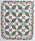Pineapple Quilt with Birds Border: Circa 1870; New York