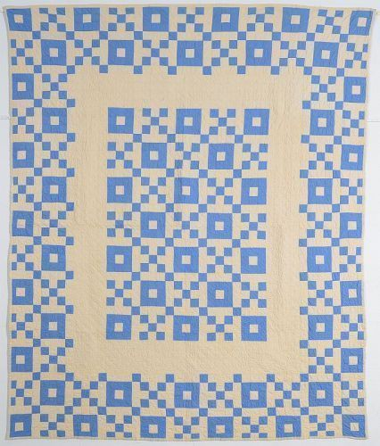 Nine Patch Medallion Quilt: Circa 1920; Pennsylvania